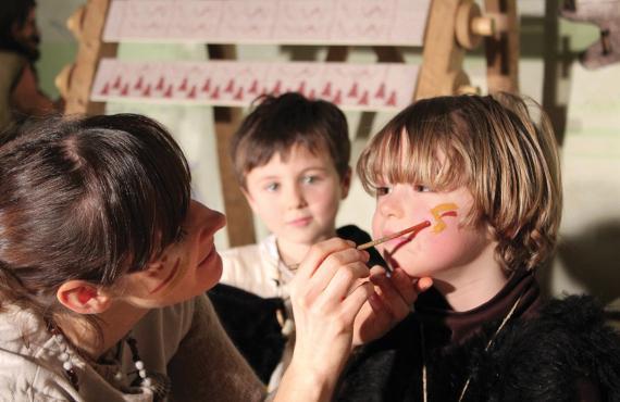 Maquillage Préhisto'site du Cairn