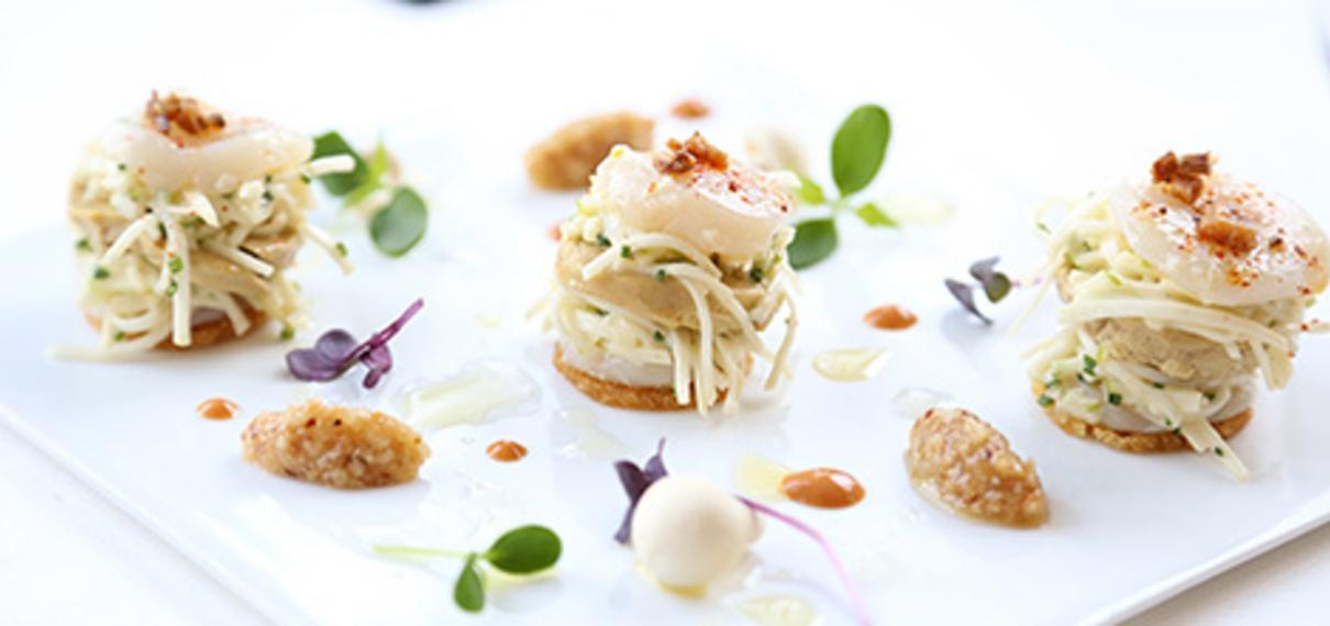 Tarte fine de Saint Jacques et foie gras de Vendée