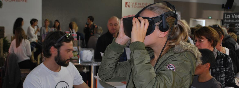 Animation réalité virtuelle au pavillon du tourisme