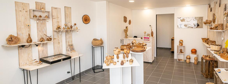 Exposition atelier bois L'Île aux Artisans