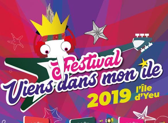 Affiche festival Viens dans mon île