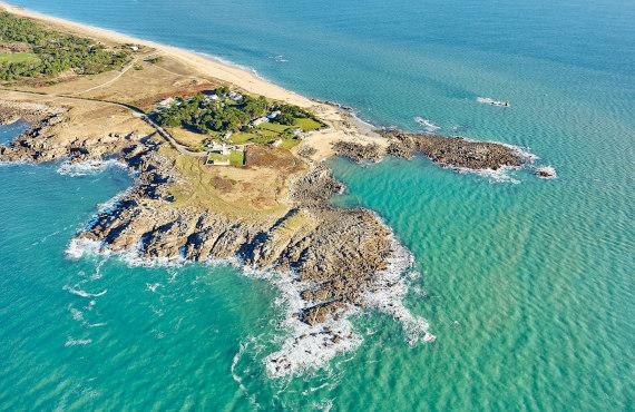 Photo aérienne de l'île d'Yeu
