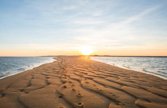 coucher soleil littoral vendéen pointe de l'aiguillon