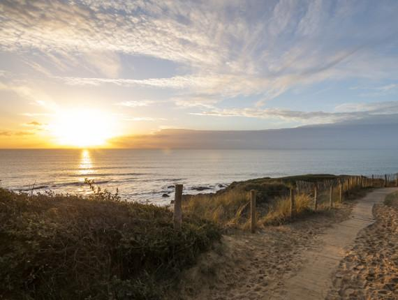 Coucher de soleil à Jard sur Mer