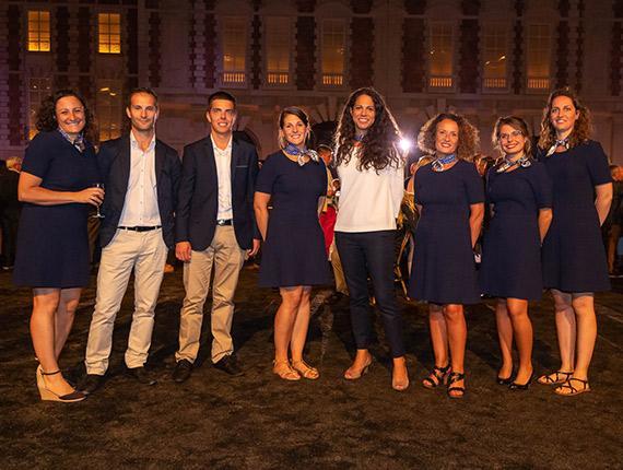 Équipe de Vendée Tourisme lors d'un évenements organisés par Longchamps