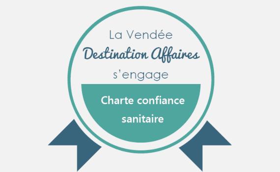 Logo Charte confiance sanitaire Vendée Tourisme