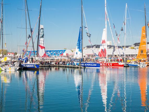Port des Sables d'Olonne au départ du Vendée Globe