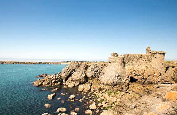 Le vieux château à l'île d'Yeu