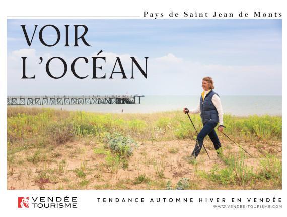 voir  l'océan à Saint Jean de Monts
