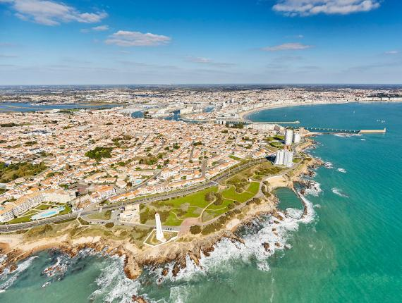 Photo aérienne des Sables d'Olonne
