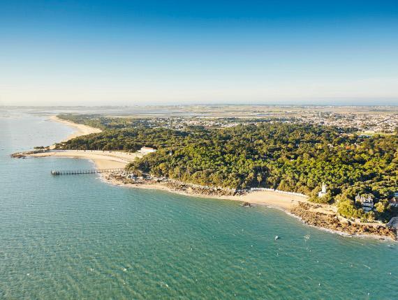 Photo aérienne de l'île de Noirmoutier