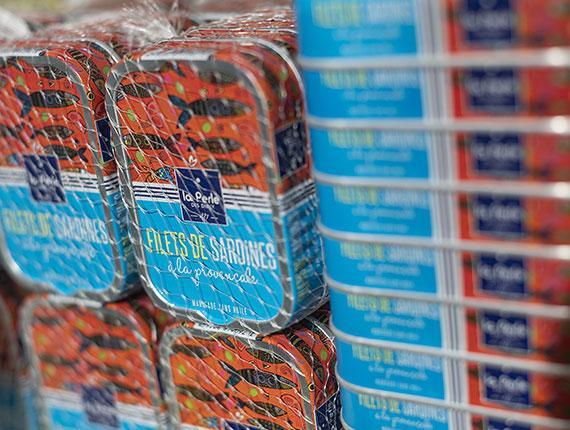 Boites de sardine La Perle des Dieux