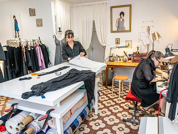 Couturières à l'Île des Artisans à Sallertaine