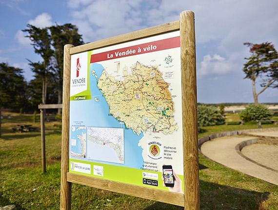 Panneau de signalisation pour pistes cyclables