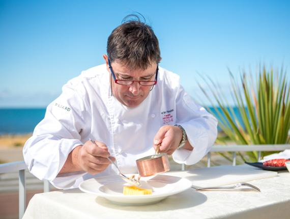 restaurant étoilé vendée jean marc pérochon bretignolles sur mer vue mer