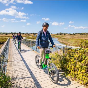 Vélo à la Guittère à Talmont Saint Hilaire